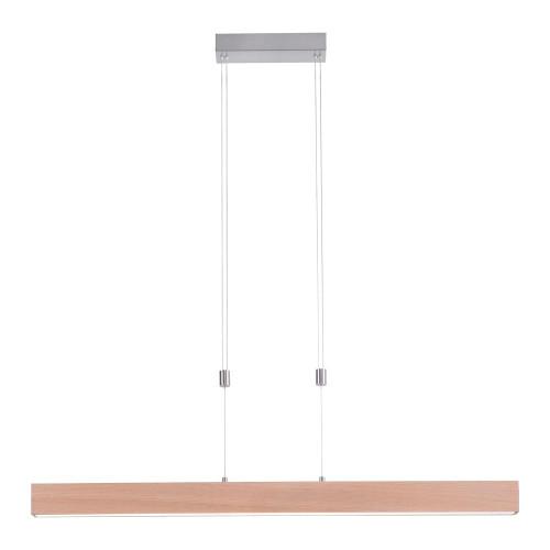 Leuchten Direkt AMANDA Wood Effect Rise and Fall Linear Touch Dim Bar Pendant Light