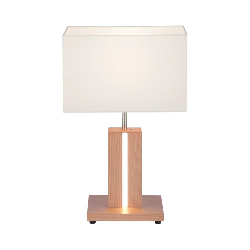 Leuchten Direkt AMANDA Wood Effect with Touch Dim Illuminated Strip Table Lamp