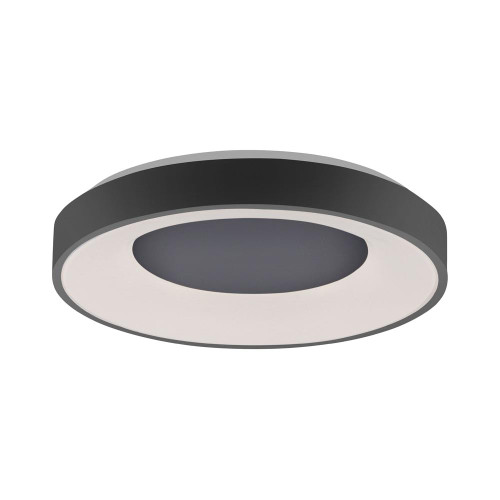 Leuchten Direkt ANIKA Black Halo Remote Control Dimmble LED 50cm Wall or Ceiling Light
