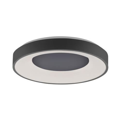 Leuchten Direkt ANIKA Black Halo Remote Control Dimmble LED 70cm Wall or Ceiling Light