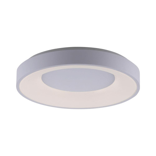 Leuchten Direkt ANIKA White Halo Remote Control Dimmble LED 50cm Wall or Ceiling Light