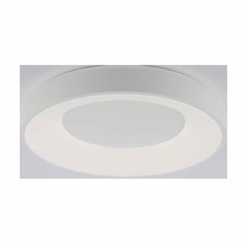 Leuchten Direkt ANIKA White Halo Remote Control Dimmble LED 70cm Wall or Ceiling Light
