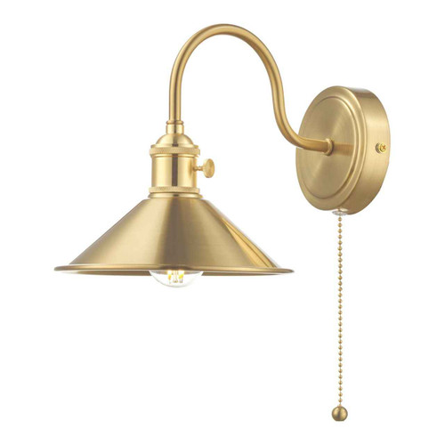 Hadano 1 Light Brass With Brass Shade Wall Light