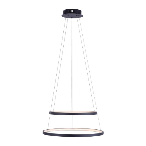 Leuchten Direkt CIRCLE 2 Light Anthracite Double Ring Simply Dim LED Pendant Light