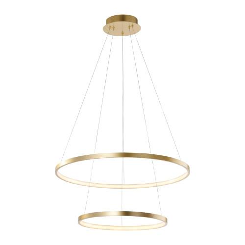 Leuchten Direkt CIRCLE 2 Light Gold Double Ring LED Pendant Light