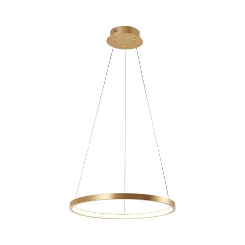 Leuchten Direkt CIRCLE 39cm Gold Ring LED Pendant Light