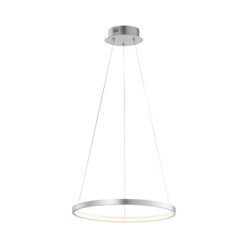Leuchten Direkt CIRCLE 39cm Silver Ring LED Pendant Light