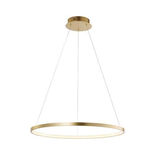 Leuchten Direkt CIRCLE 60cm Gold Ring LED Pendant Light