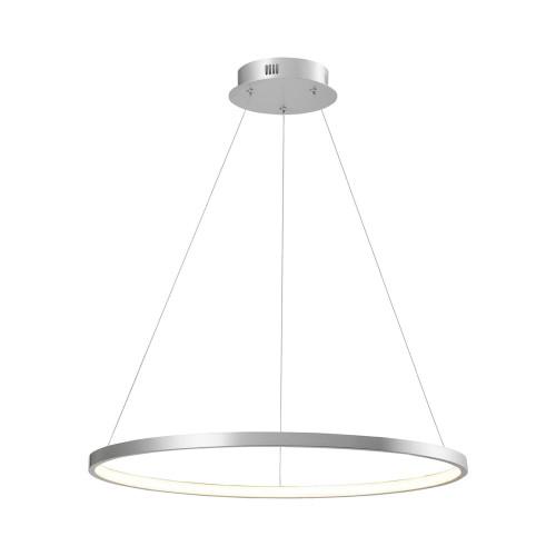 Leuchten Direkt CIRCLE 60cm Silver Ring LED Pendant Light