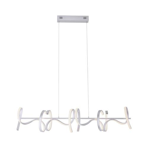 Leuchten Direkt CURLS 4 Light Silver Bar Simply Dim LED Pendant Light