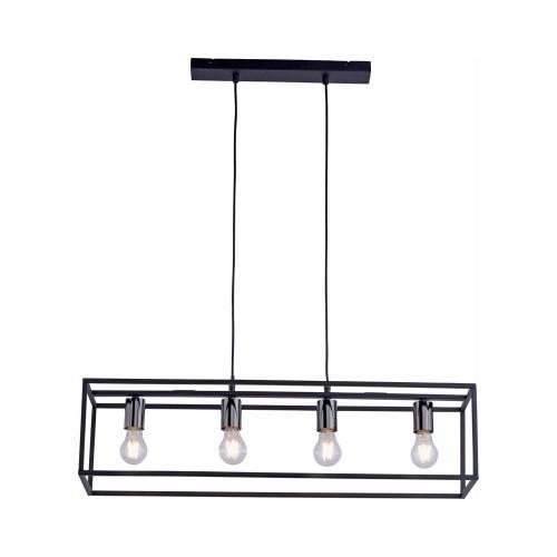 Leuchten Direkt FABIO 4 Light Black Sqaure Frame Bar Pendant Light