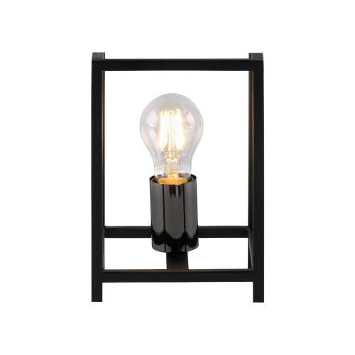 Leuchten Direkt FABIO Black Sqaure Frame Table Lamp