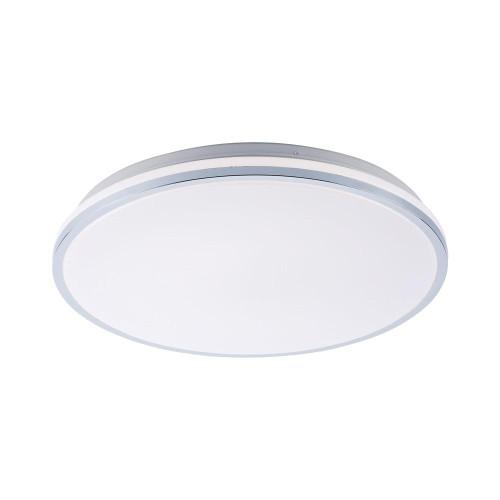 Leuchten Direkt ISABELL 49cm Chrome with White IP44 Bathroom Ceiling Light