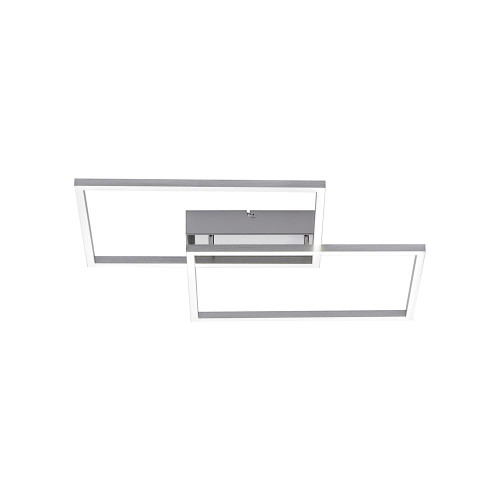 Leuchten Direkt IVEN 2 Light Medium Satin Chrome Double Square Dimmable Ceiling Light