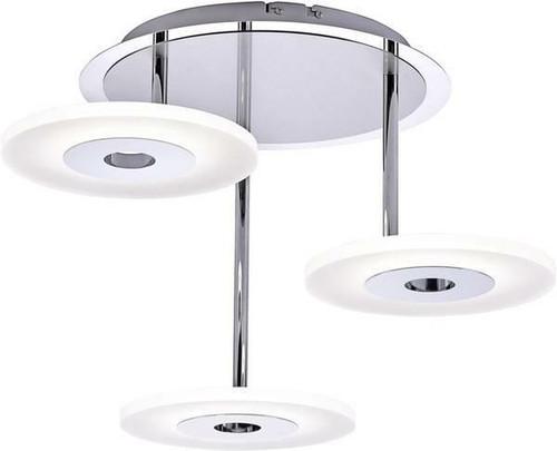 Paul Neuhaus ADALI 3 Light Satin Chrome Semi Flush Ceiling Light
