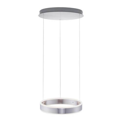 Paul Neuhaus ARINA 40cm 2 Light Satin Chrome Ringed Pendant Light