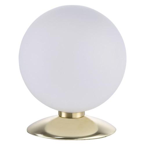Paul Neuhaus BUBBA Matt Brass with Opal White Glass Touch Dim Table Lamp