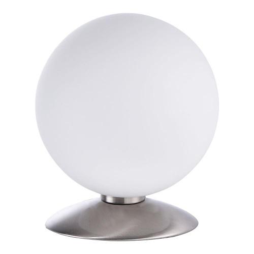 Paul Neuhaus BUBBA Satin Chrome with Opal White Glass Touch Dim Table Lamp