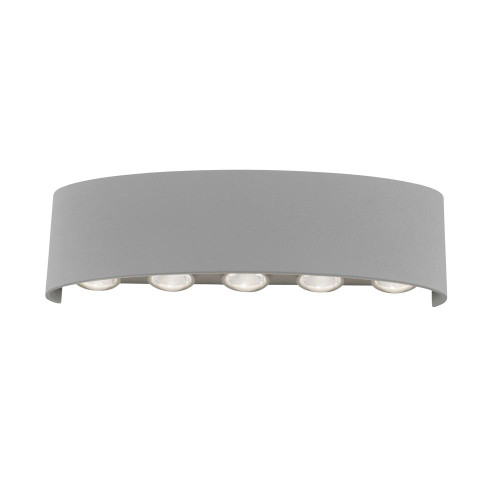 Paul Neuhaus CARLO 10 Light Silver Up and Down Outdoor Wall Light