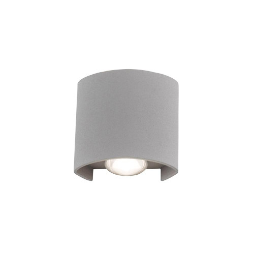 Paul Neuhaus CARLO 2 Light Silver Up and Down Outdoor Wall Light
