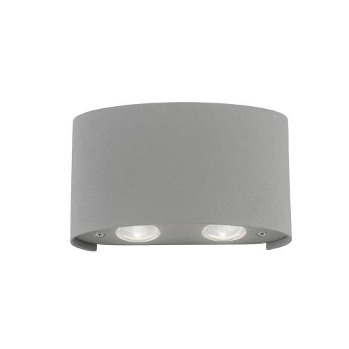 Paul Neuhaus CARLO 4 Light Silver Up and Down Outdoor Wall Light
