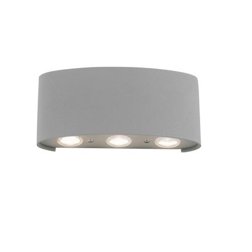 Paul Neuhaus CARLO 6 Light Silver Up and Down Outdoor Wall Light