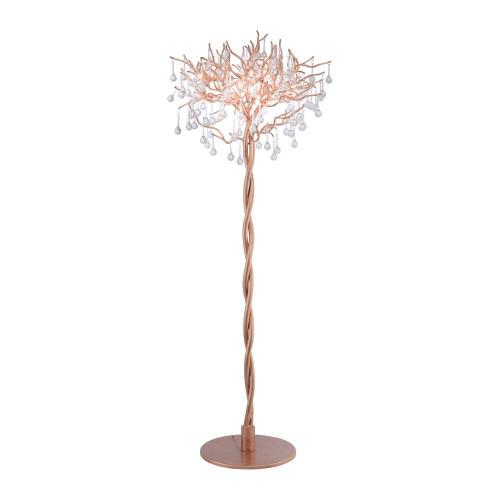 Paul Neuhaus ICICLE 5 Light Aged Brass Floor Lamp