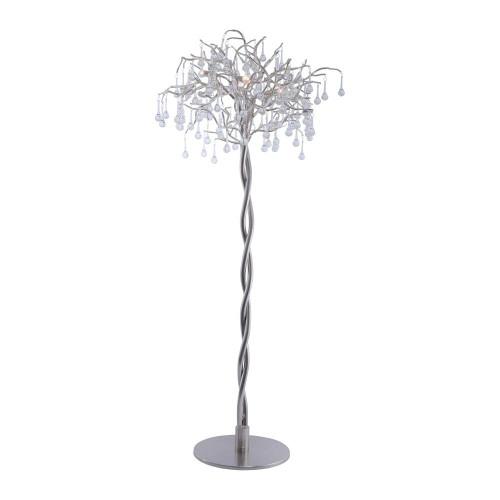 Paul Neuhaus ICICLE 5 Light Steel Floor Lamp