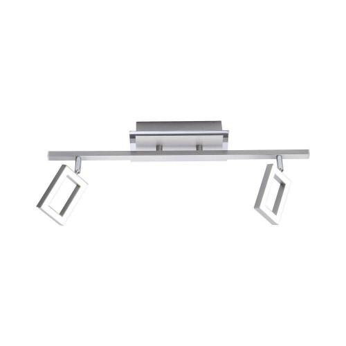 Paul Neuhaus INIGO 2 Light Satin Chrome Bar Ceiling Light