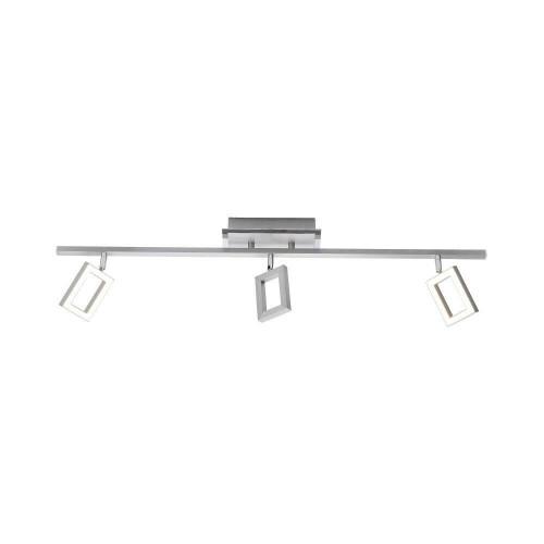Paul Neuhaus INIGO 3 Light Satin Chrome Bar Ceiling Light