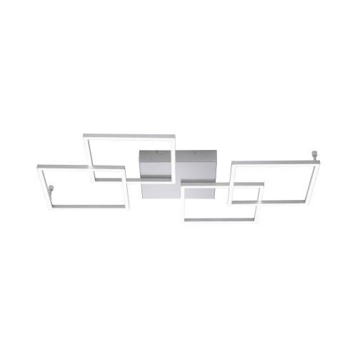 Paul Neuhaus INIGO 4 Light Satin Chrome Dimmable Ceiling Light