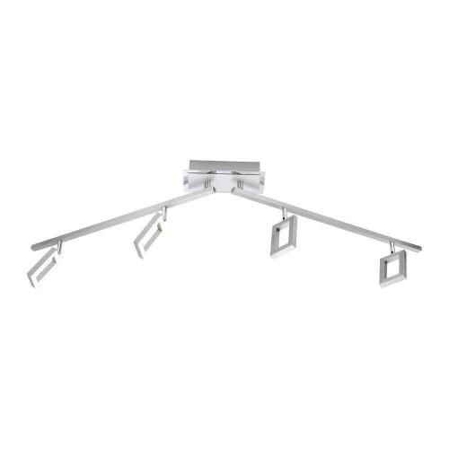 Paul Neuhaus INIGO 4 Light Satin Chrome Bar Ceiling Light