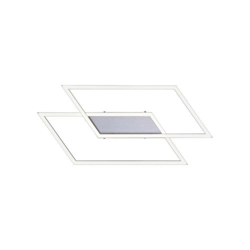 Paul Neuhaus INIGO 53.8x24.2cm 2 Light Satin Chrome Ceiling Light