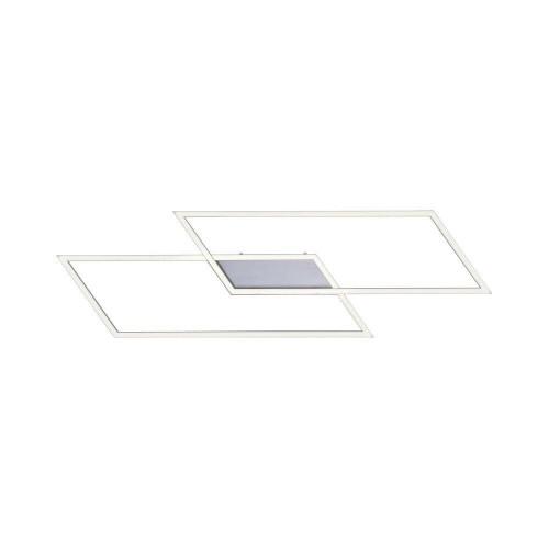 Paul Neuhaus INIGO 83.6x24.2cm 2 Light Satin Chrome Dimmable Ceiling Light