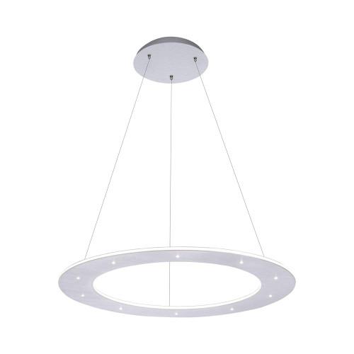 Paul Neuhaus PURE-COSMO Aluminium 55cm Ring Dimmable LED Pendant Light