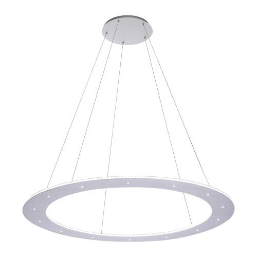 Paul Neuhaus PURE-COSMO Aluminium 75cm Ring Dimmable LED Pendant Light
