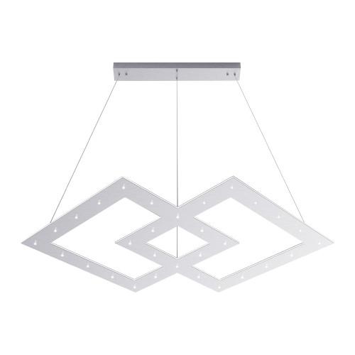 Paul Neuhaus PURE-COSMO Aluminium 121x84.5cm Double Diamond Dimmable LED Pendant Light
