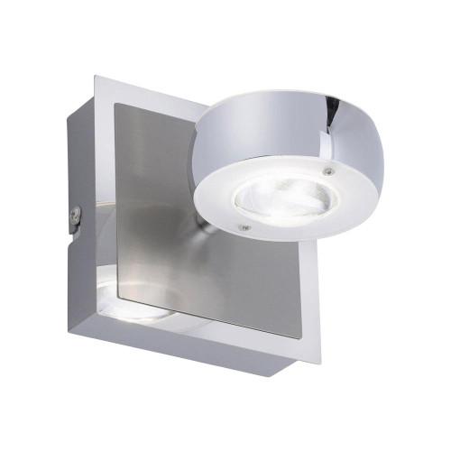 Leuchten Direkt Ls-OPTI 2 Light Satin Chrome Dimmable Colour Change Wall light
