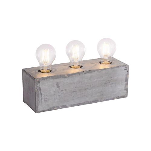Leuchten Direkt SAMIA 3 Light Silver Industrial Look Table Lamp