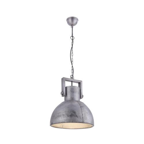 Leuchten Direkt SAMIA 40cm Silver Industrial Look Pendant Light