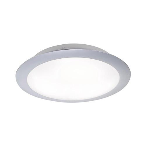 Leuchten Direkt SATOB 30cm Silver with White Plastic Ceiling Light