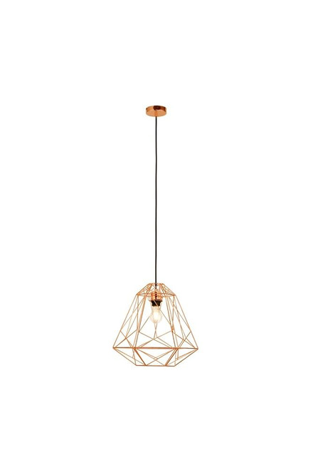 Leuchten Direkt SKELETTON Copper Circular Wire Frame Pendant Light