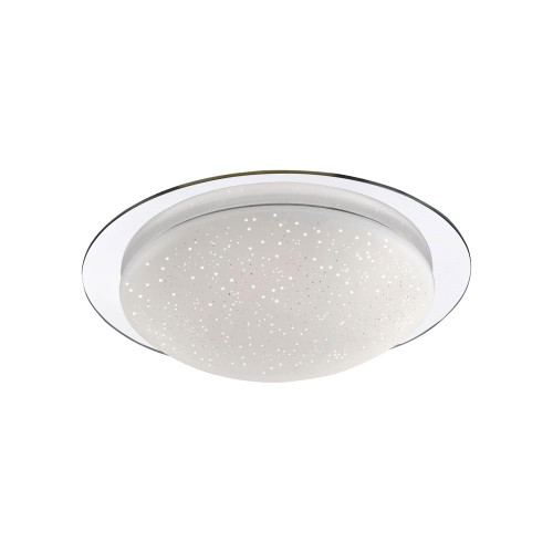 Leuchten Direkt SKYLER 30cm Chrome Starry Sky IP44 Ceiling Light