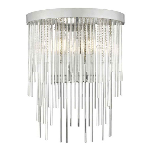 Isla Polished Chrome And Clear Glass 2 Light Wall Light
