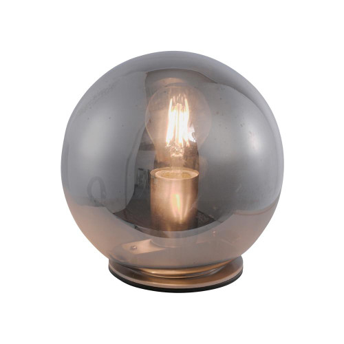Leuchten Direkt TABEA Silver with Smoked Glass Shade Table Lamp