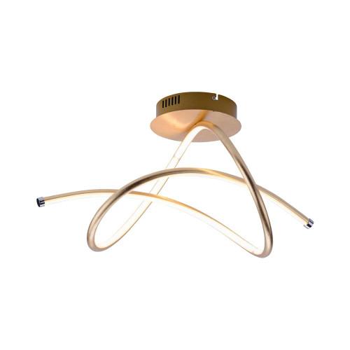 Leuchten Direkt VIOLETTA Gold Semi Flush LED Ceiling Light