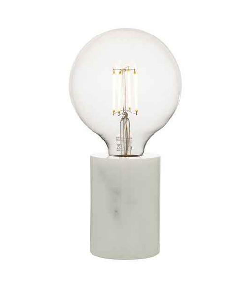 Jaxon White Marble Table Lamp