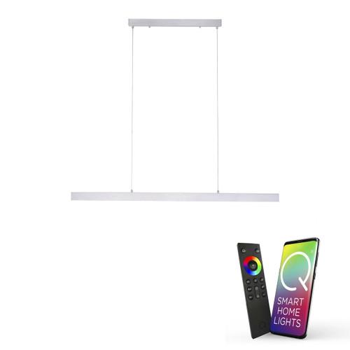 Paul Neuhaus Q-CORA Aluminium Smart LED Bar Pendant Light