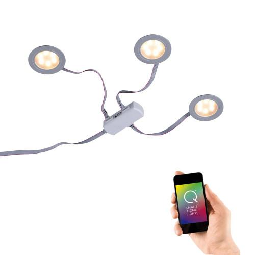 Paul Neuhaus Q-ELLI 3 Light Aluminium Smart LED Recessed Downlight