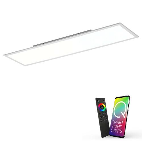 Paul Neuhaus Q-FLAG 120x30cm Silver and White Smart LED Ceiling Light